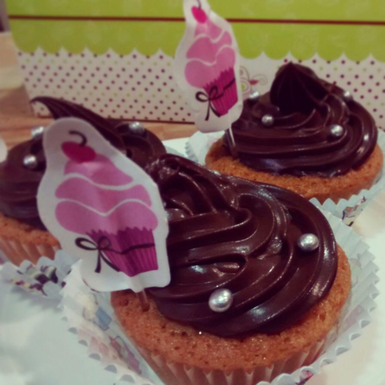 Cupcakes con ganache de chocolate con TM5