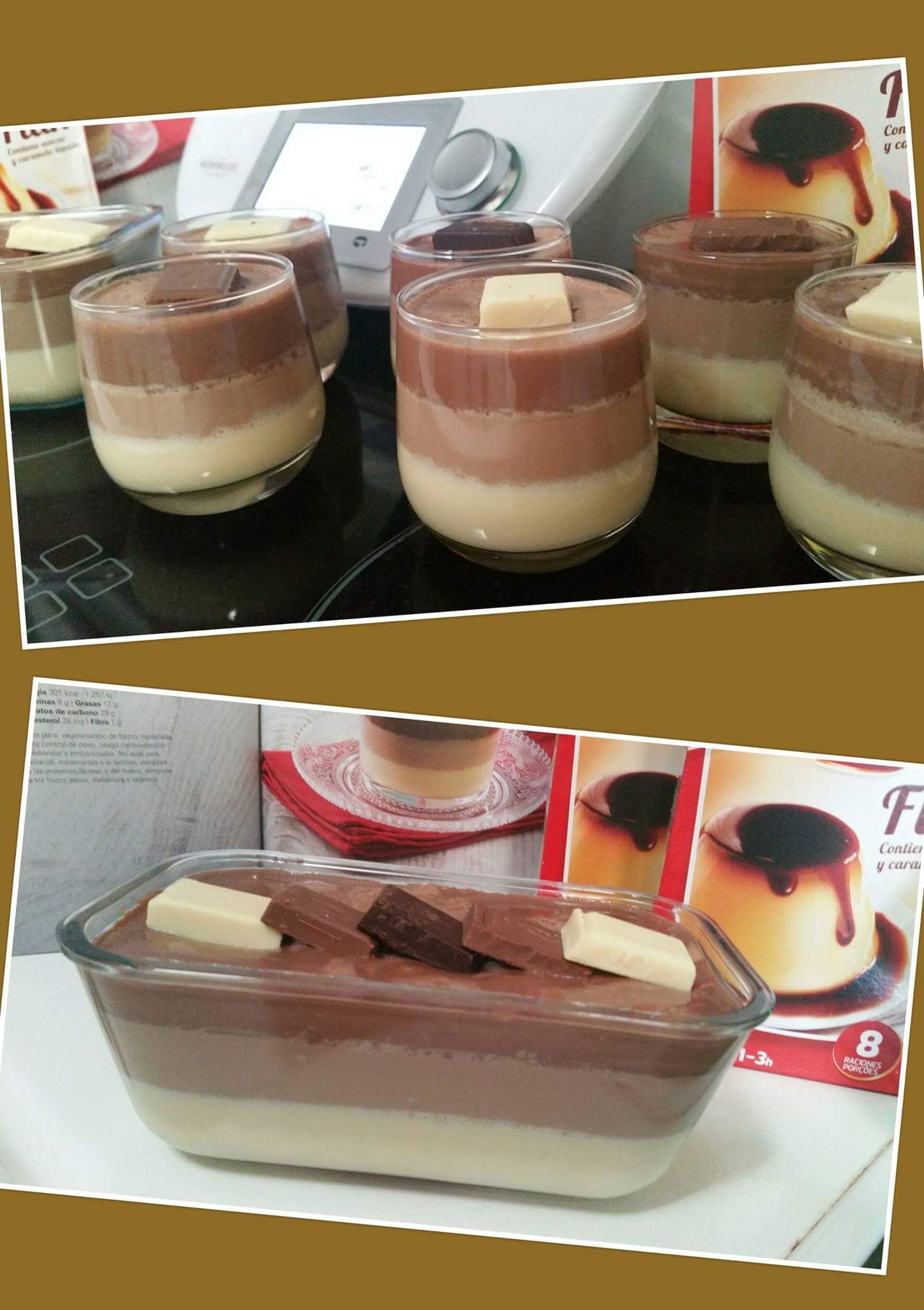 FLAN A LOS TRES CHOCOLATES CON Thermomix®