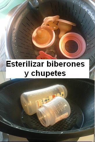 Esterilizar biberones y chupetes