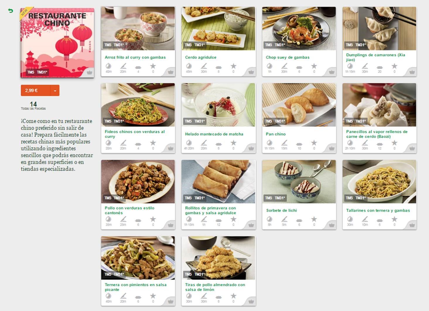 Nueva Coleccion de comida China