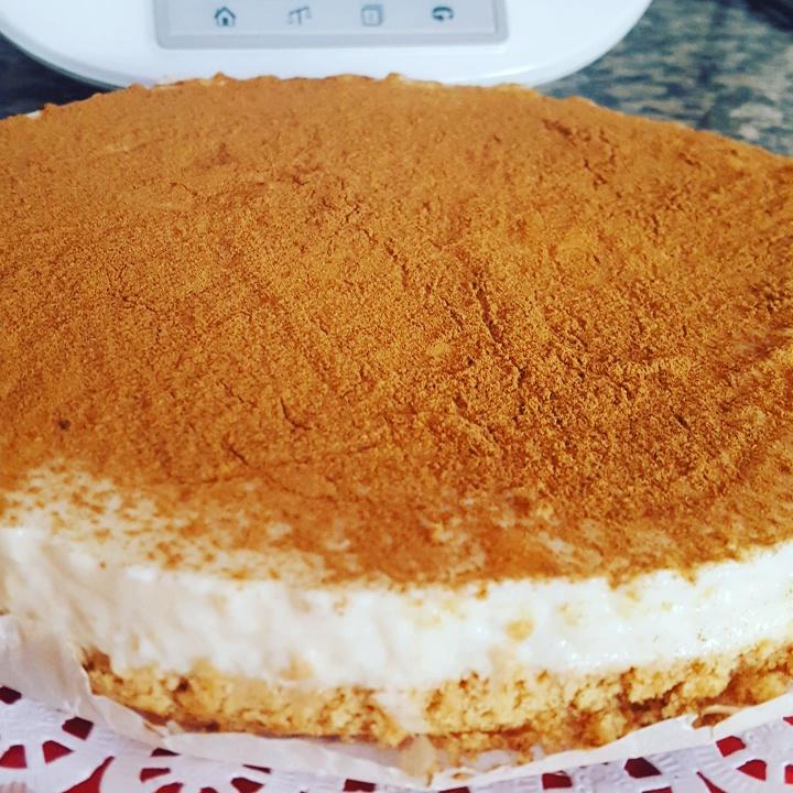 Tarta de arroz con leche con Thermomix® .