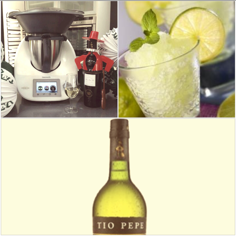 Granizado de limón con fino de Jerez (pepe-limon) con Thermomix® .