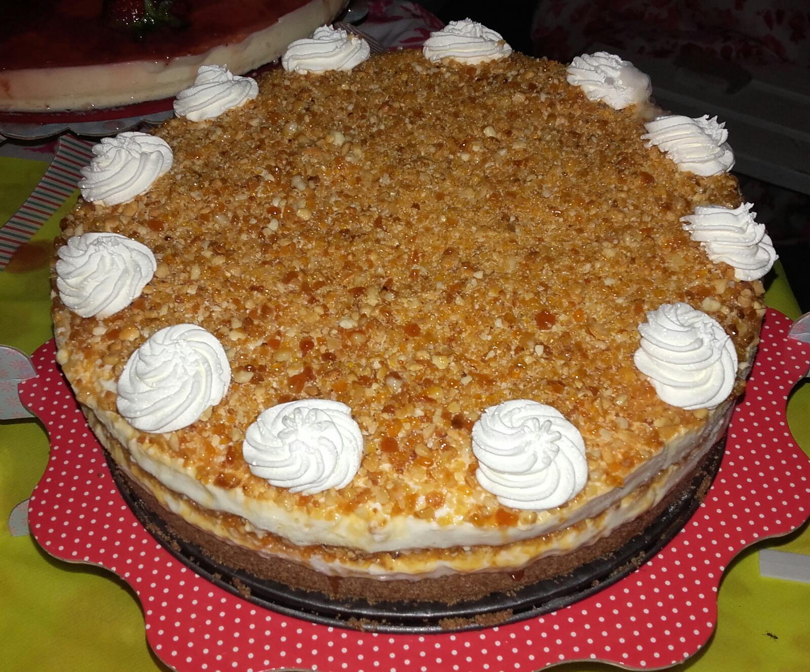 Tarta helada de nata con praliné de Almendras con Thermomix®