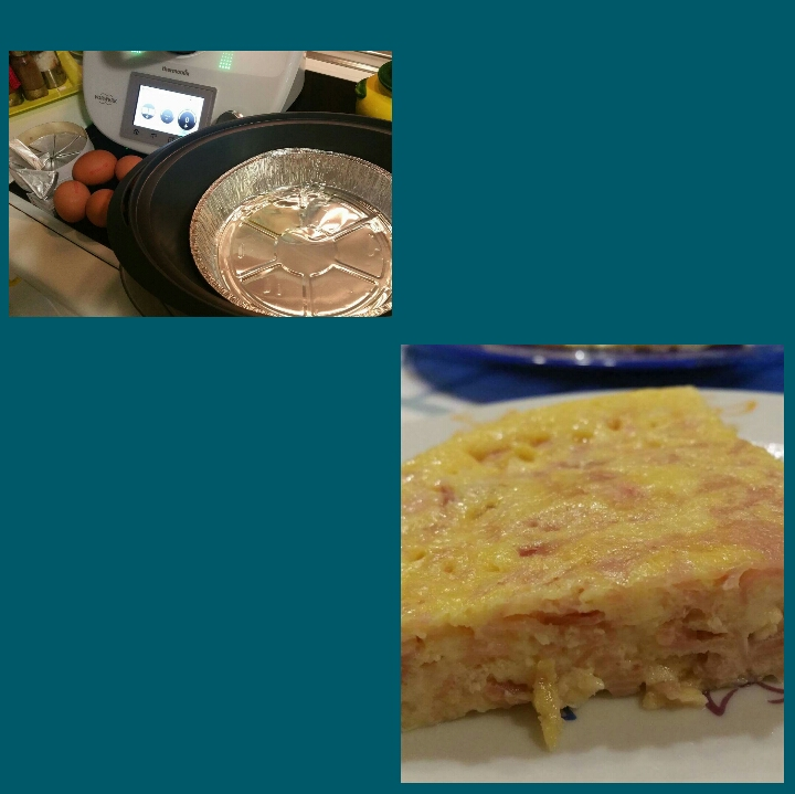 TORTILLA DE JAMON YORK-QUESO CON Thermomix®