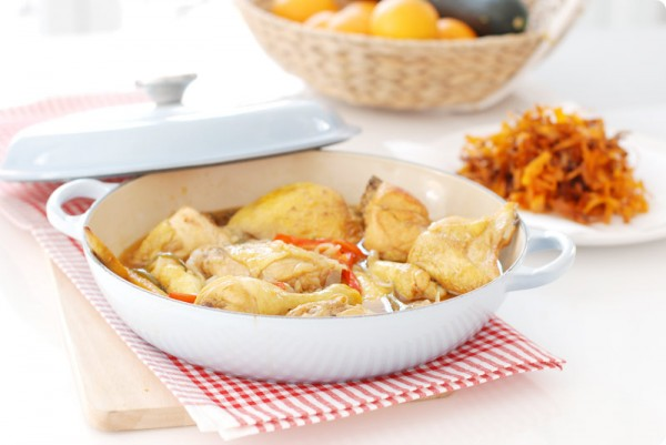 Pollo al jerez con pimentón