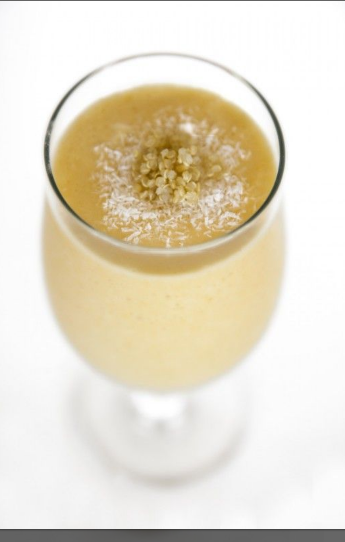 Batido tropical de quinoa con Thermomix® .