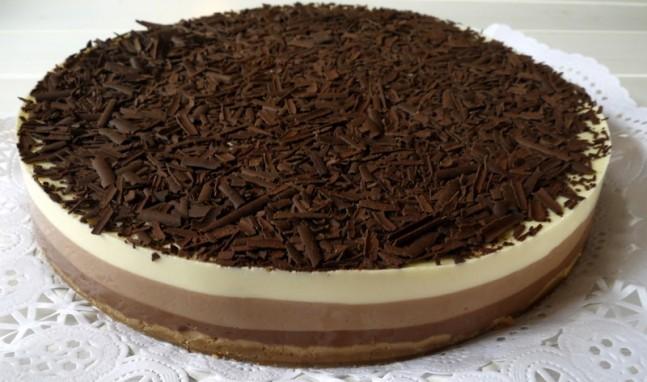 TARTA DE TRES CHOCOLATES CON Thermomix®