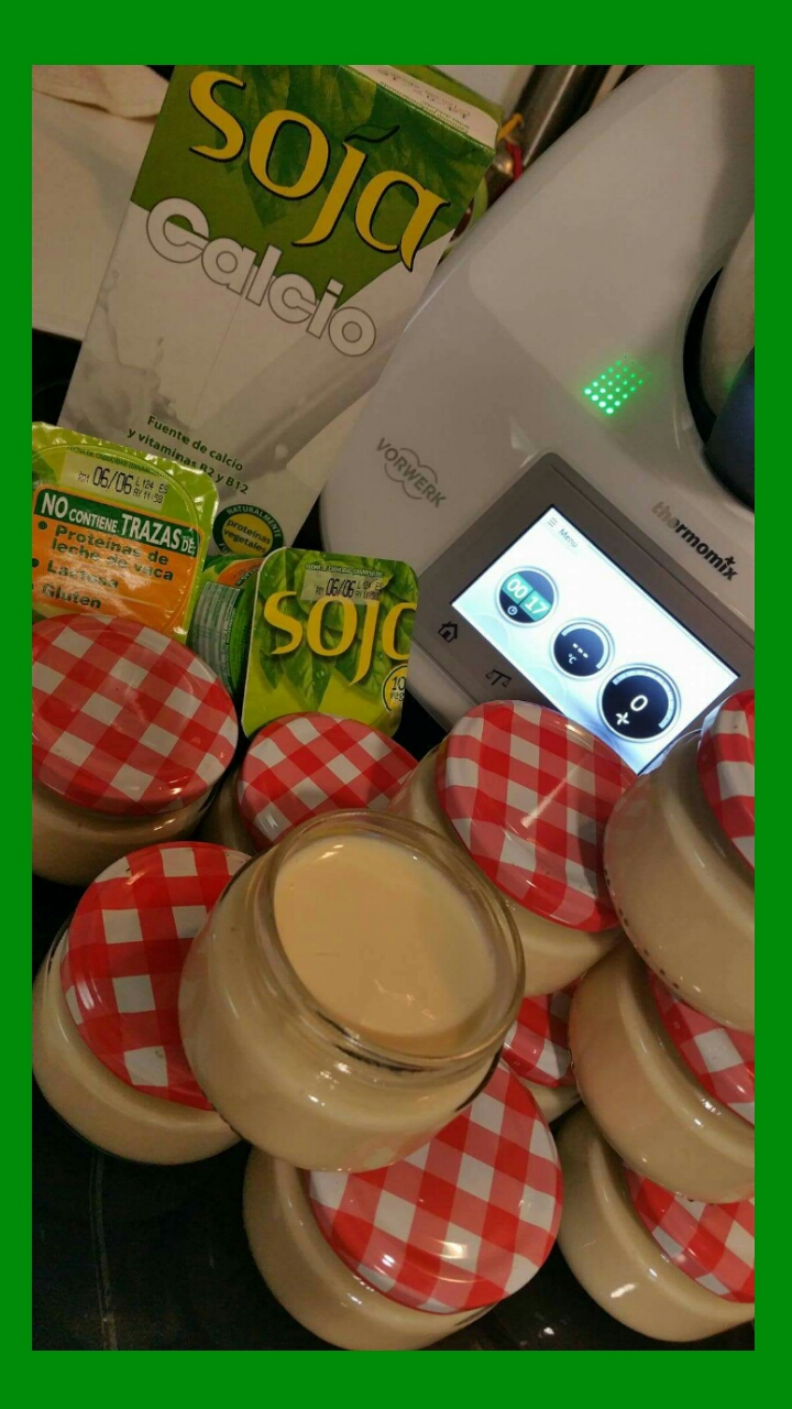 YOGUR NATURAL- DE COLA-CAO - DE SOJA CON Thermomix®
