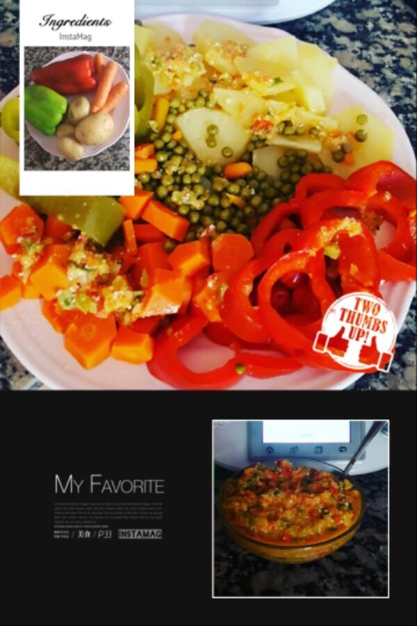 Verbena de verduras con vinagreta con Thermomix®