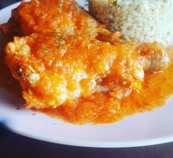 Pollo con arroz a la abuela con thermomix