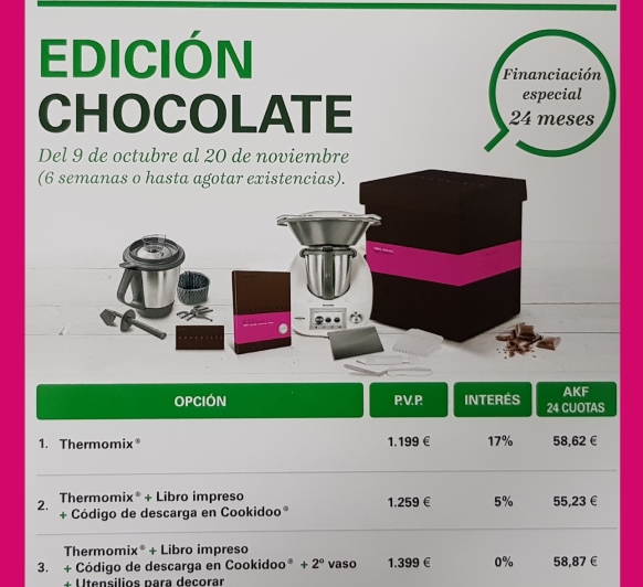 Fantástica la Edición Chocolate!!!!! Interés decreciente, justo lo que esperabas!!