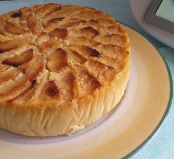 Tarta de manzana fácil y saludable.
