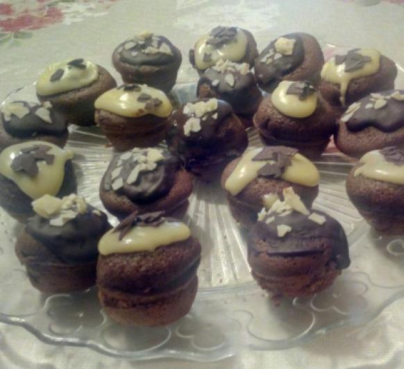Mini magdalenas de chocolate con Thermomix®
