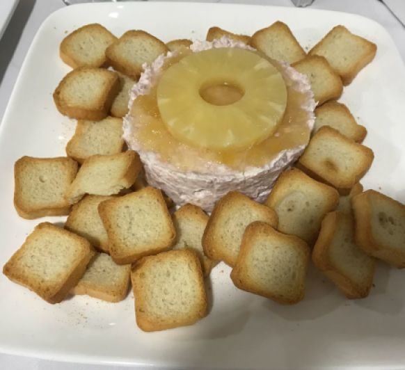 Paté de magro con piña