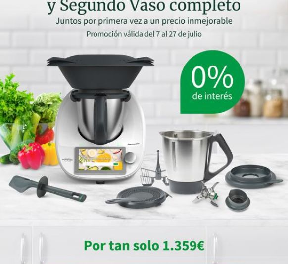 ¡TU Thermomix® CON DOBLE VASO Y AL 0% DE INTERESES!