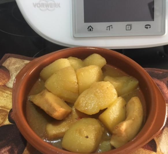Patatas con choco con Thermomix®